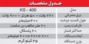 جدول مشخصات وکیوم رومیزی